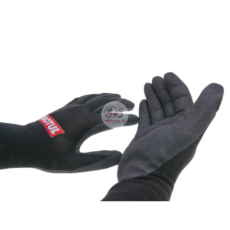 work gloves Motul nitrile coated size 8