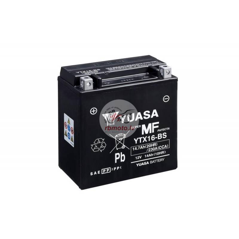 YUASA YTX16-BS Battery Maintenance Free Delivered ...