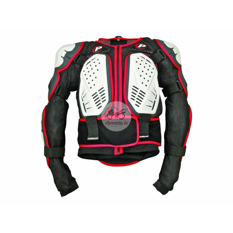 Polisport white/black/red Integral body armour L s...