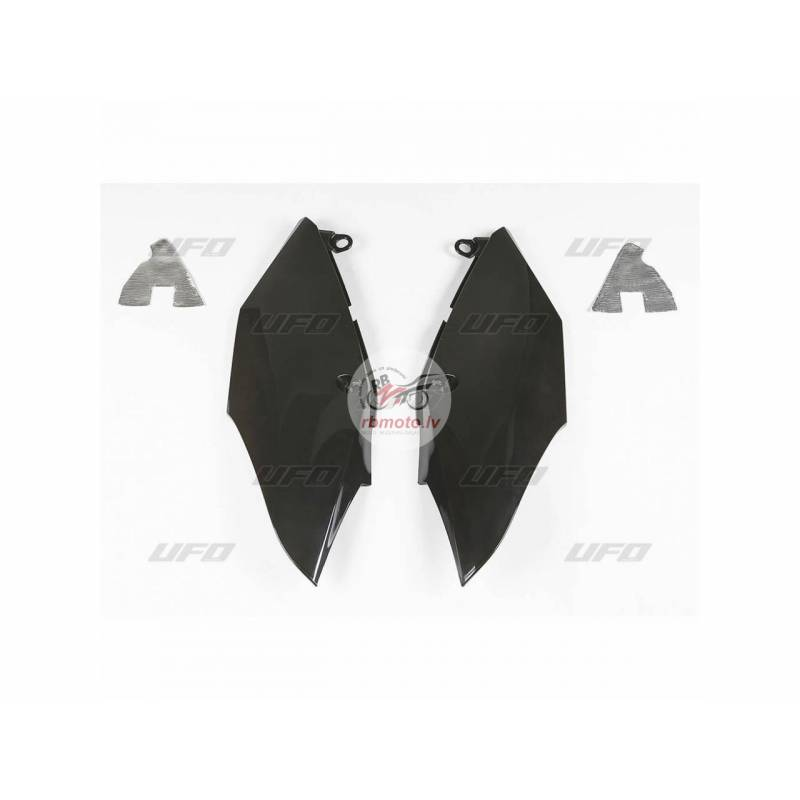 UFO Side Panels Black Honda CRF250R/450R/RX