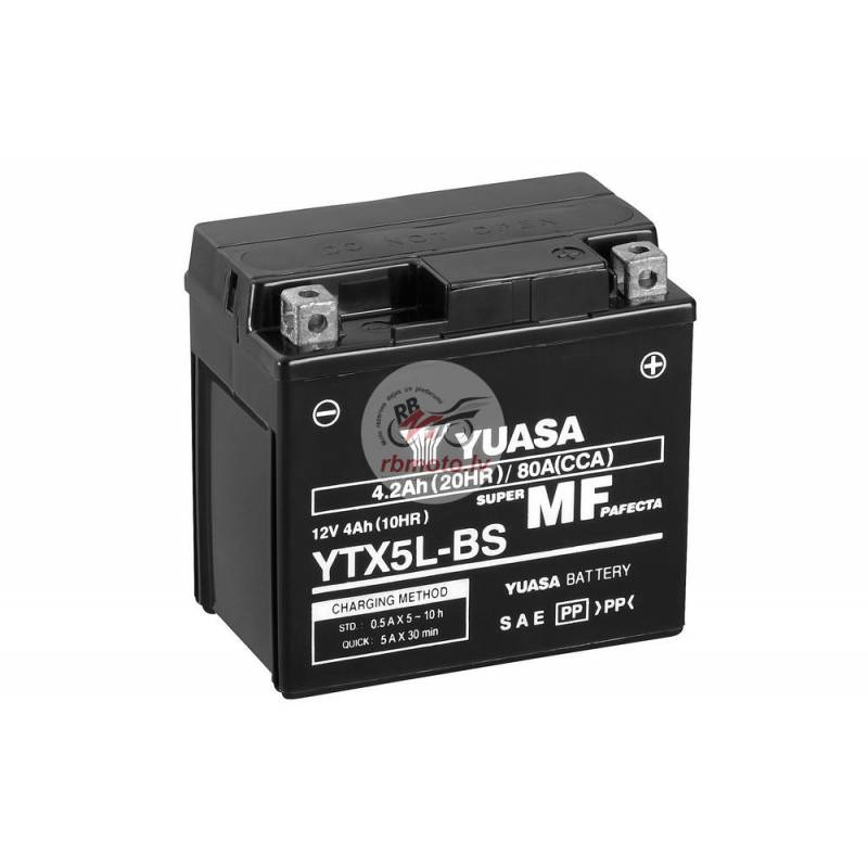 YUASA YTX5L-BS Battery Maintenance Free Delivered ...