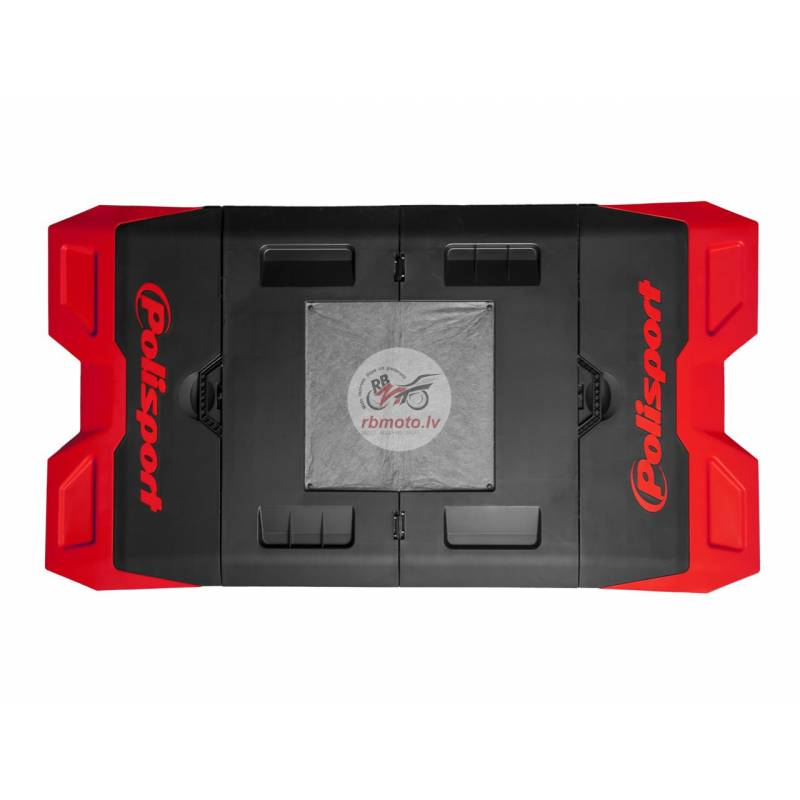 POLISPORT red/black Foldable Bike Mat