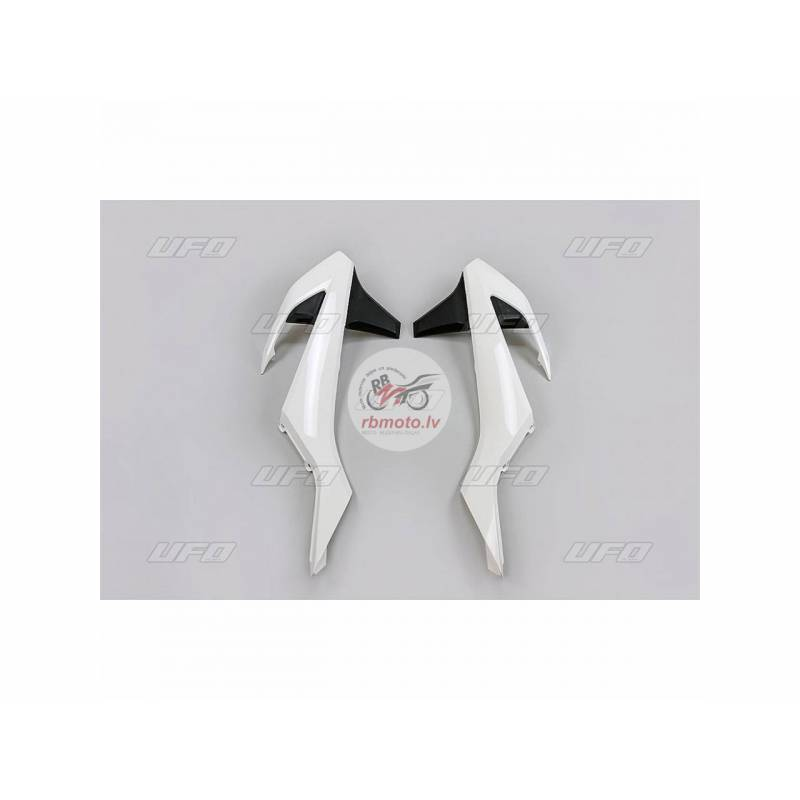 UFO Radiator Covers OEM 2017 White/Black KTM SX/SX...