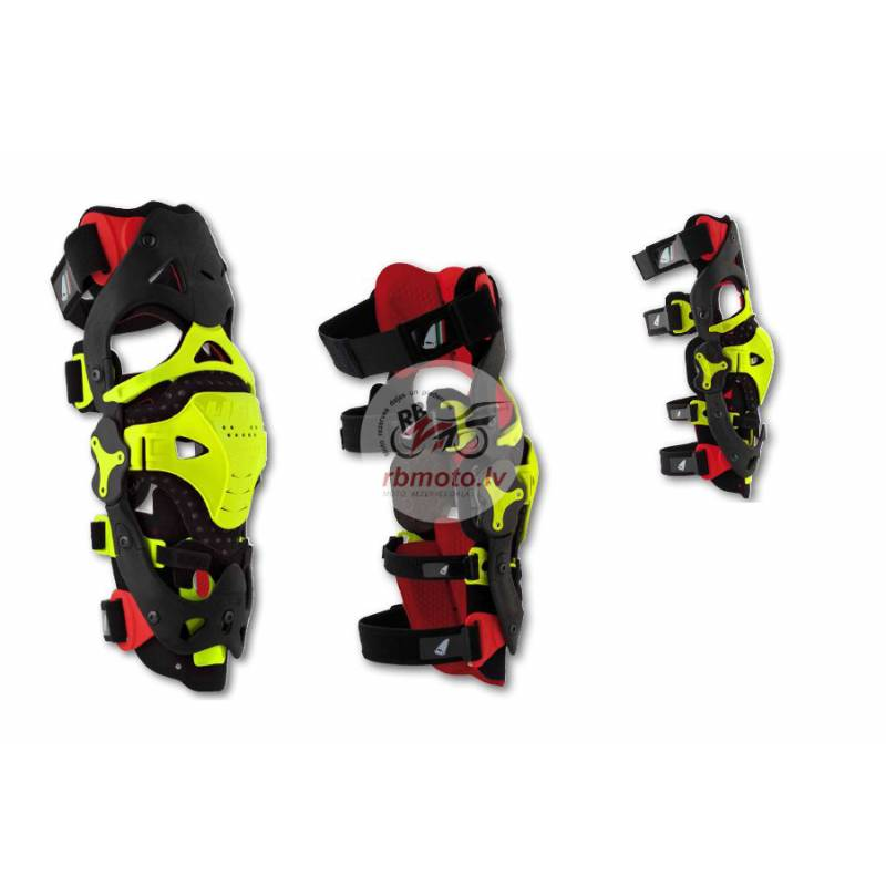 UFO Morpho Fit Knee Brace Red/Neon Yellow Size L/X...
