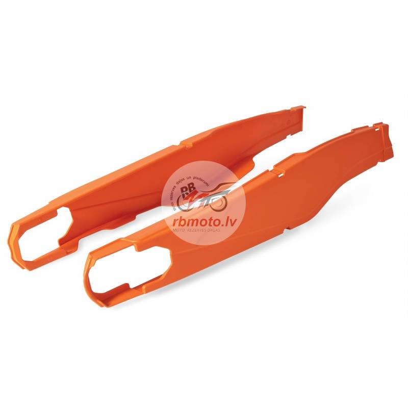 POLISPORT orange swingarm protection KTM