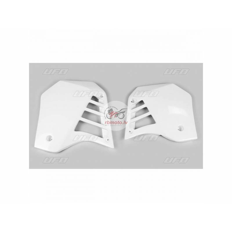 UFO Radiator Covers White Yamaha YZ125