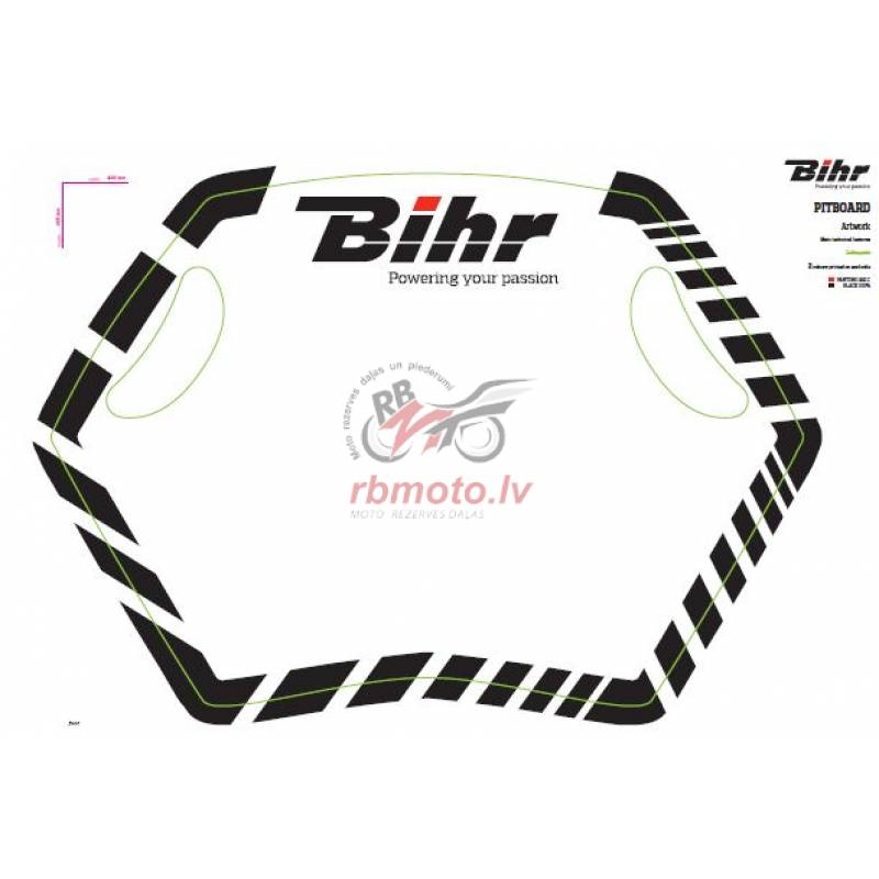 BIHR Home Track Pit board