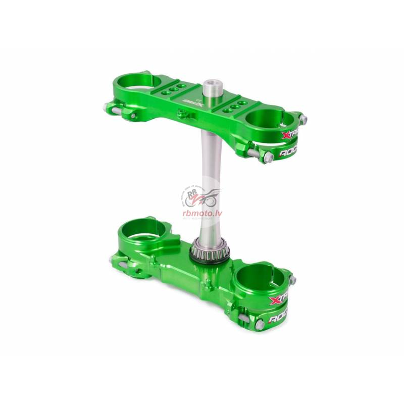 XTRIG Rocs Triple Clamp Green 23mm offset