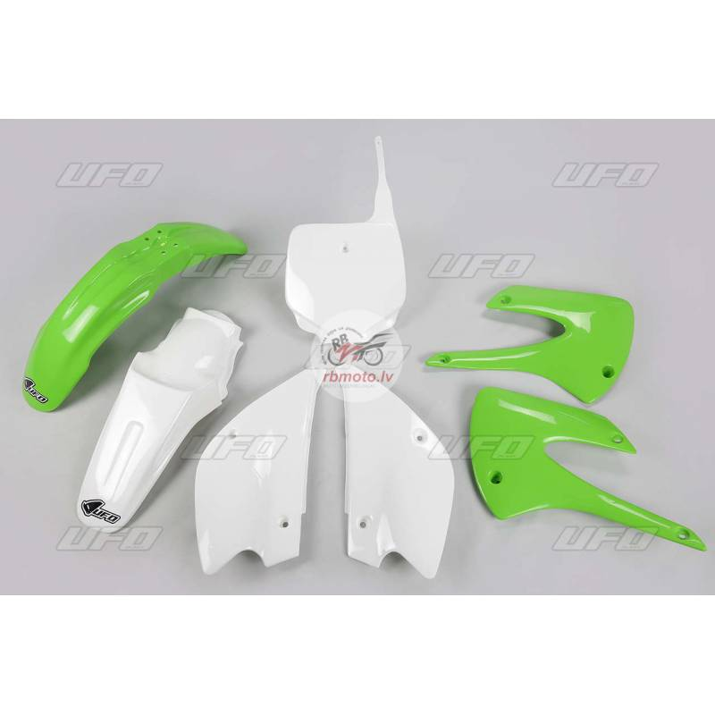 UFO Restyled Plastic Kit OEM Color (2013) Green/Wh...