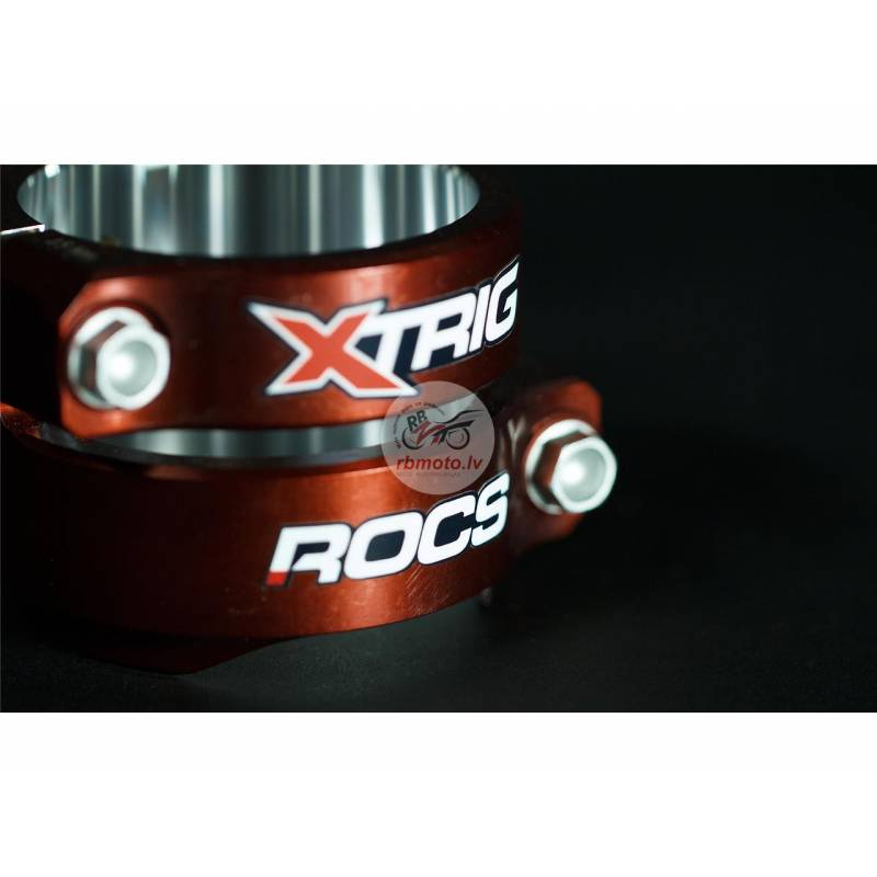 XTRIG Rocs Tech Triple Clamp Red 25mm offset