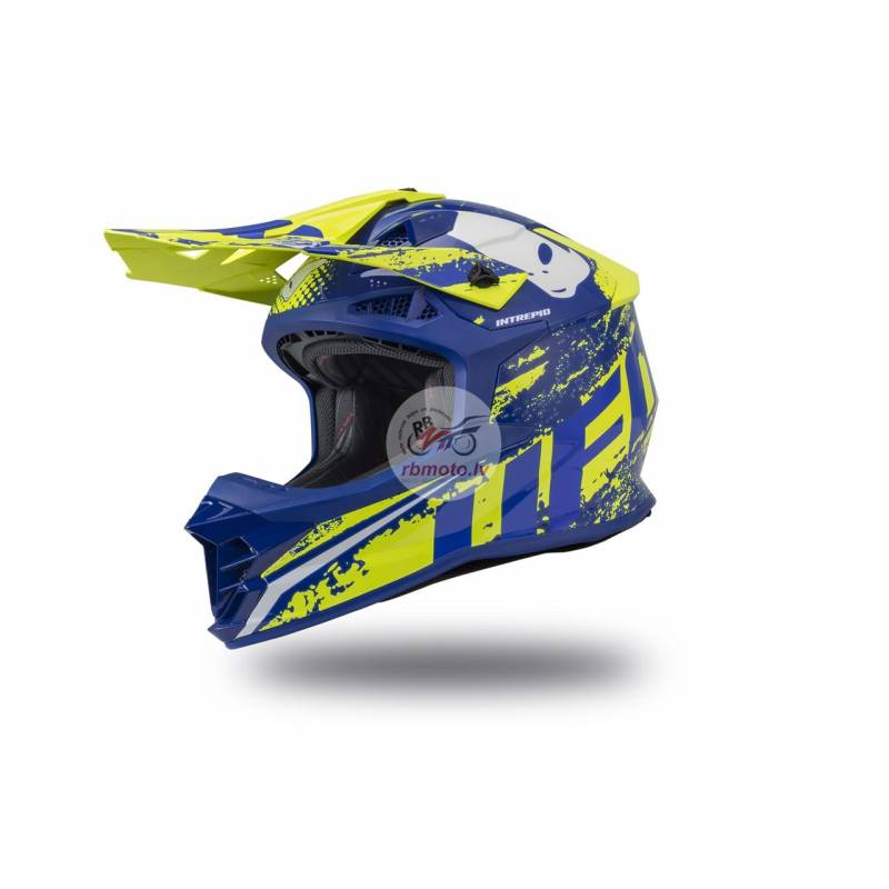 UFO Intrepid Helmet Blue/Neon Yellow Size L