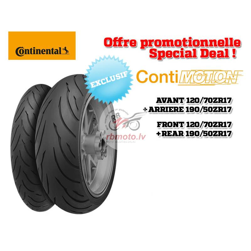2 Sport-Touring Tire Pack CONTINENTAL ContiMotion ...