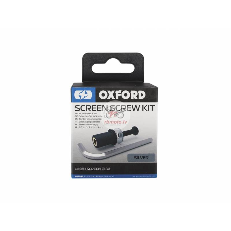 OXFORD Screw kit for Screens Silver