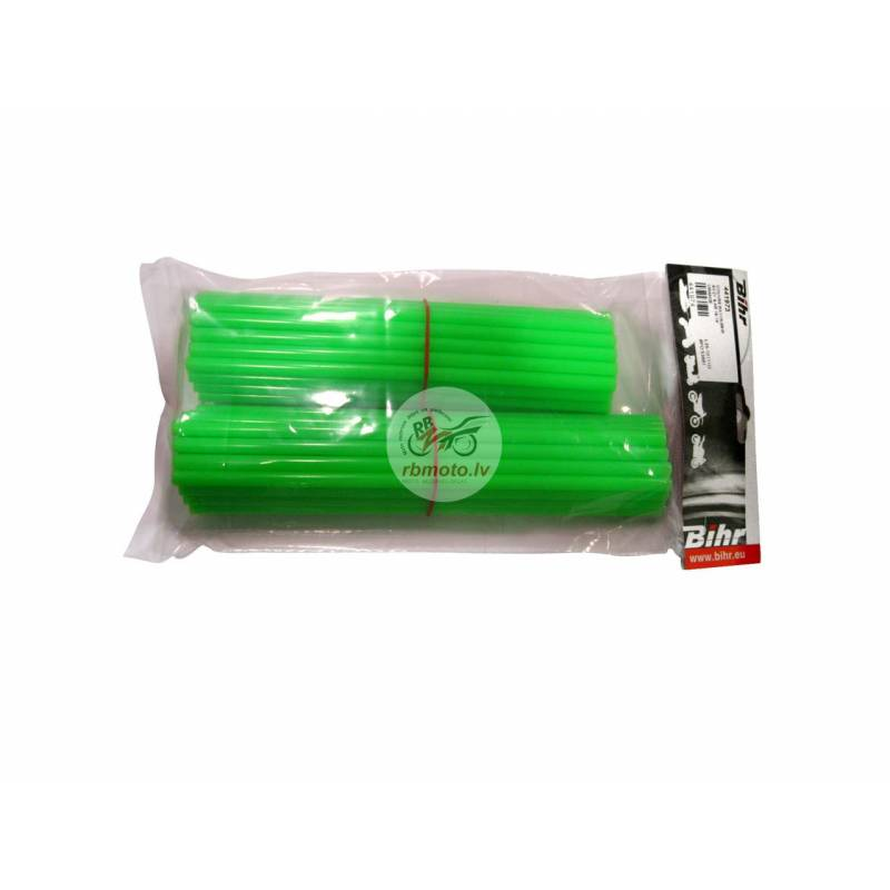 BIHR green spoke skin for front 21' & rear 18'...