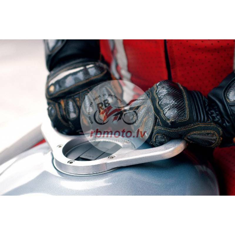 A-SIDER Tank Handle Grip 5 Screws Silver Ducati