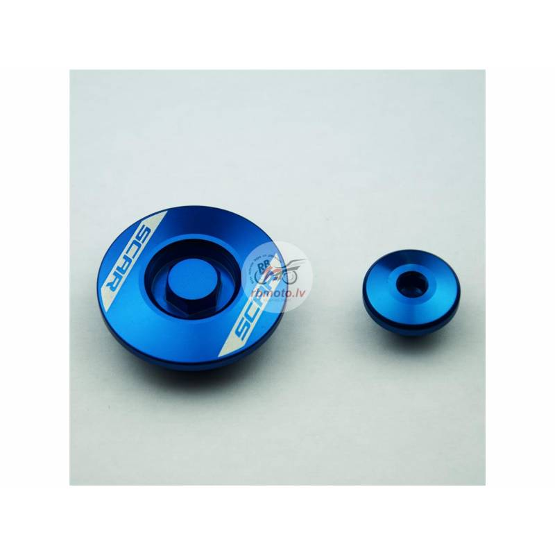SCAR Engine Plug Blue Yamaha
