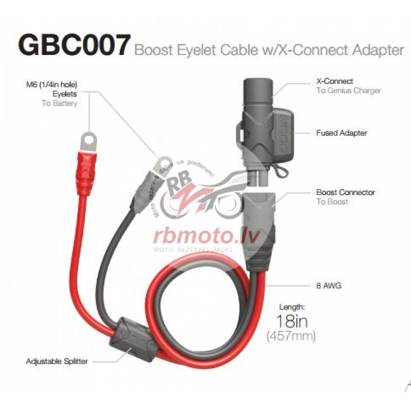 Extension Cable NOCO Eyelet/X-Connect 50cm