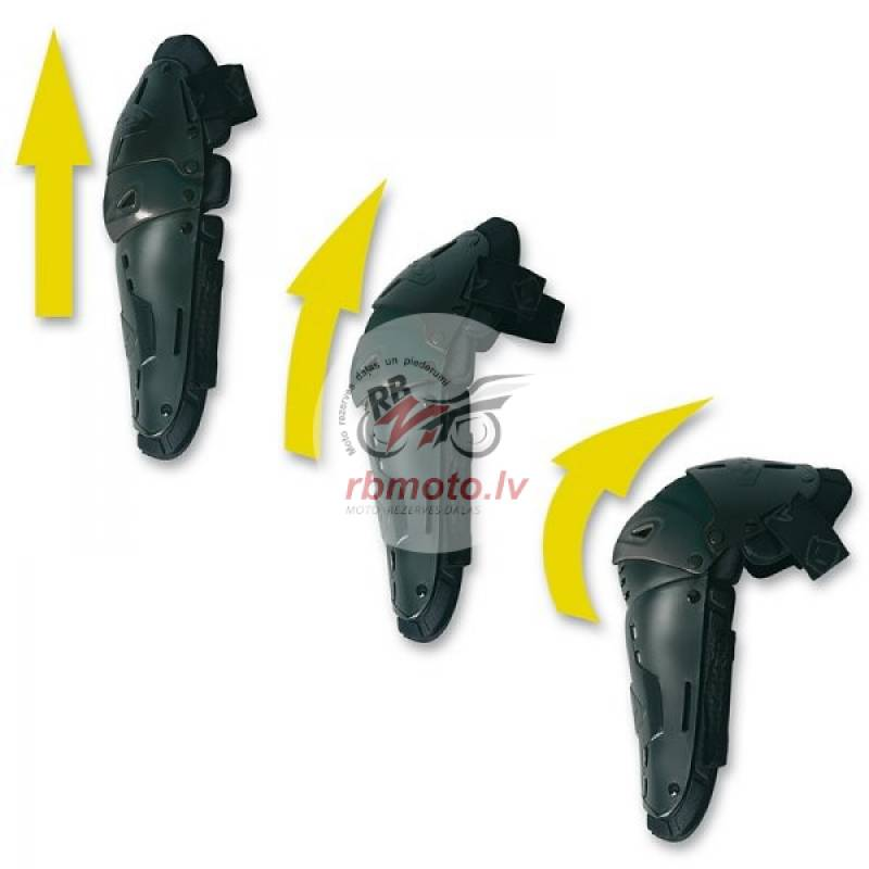UFO Articulated Knee Guards Black Kid Size