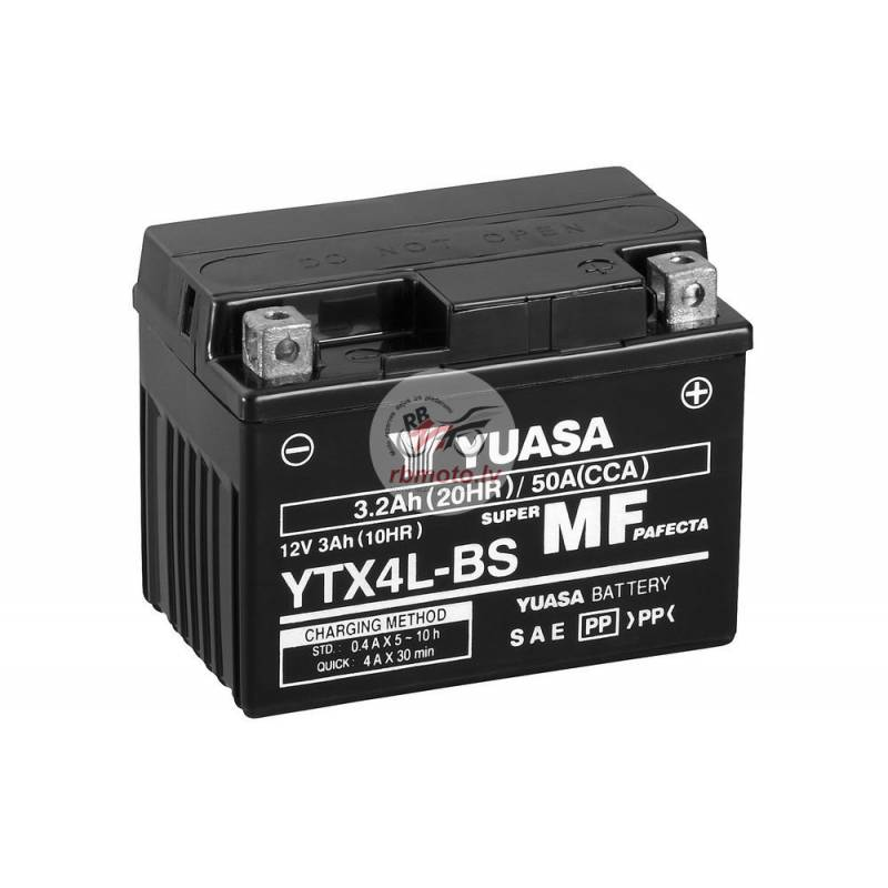 YUASA YTX4L-BS Battery Maintenance Free Delivered ...