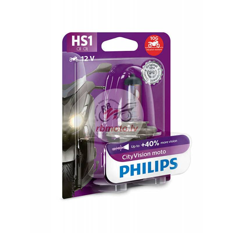 PHILIPS HS1 CityVision Moto Headlight 12V/35/35W B...