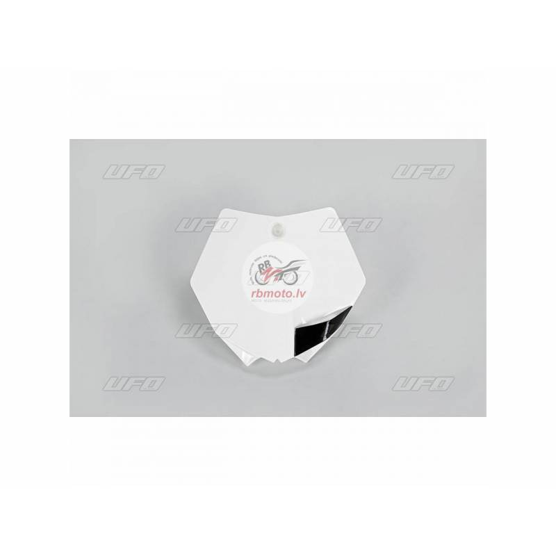 UFO Front Number Plate White KTM SX85