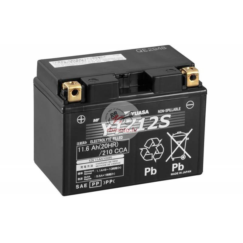 YUASA YTZ12S Battery Maintenance Free Factory Acti...