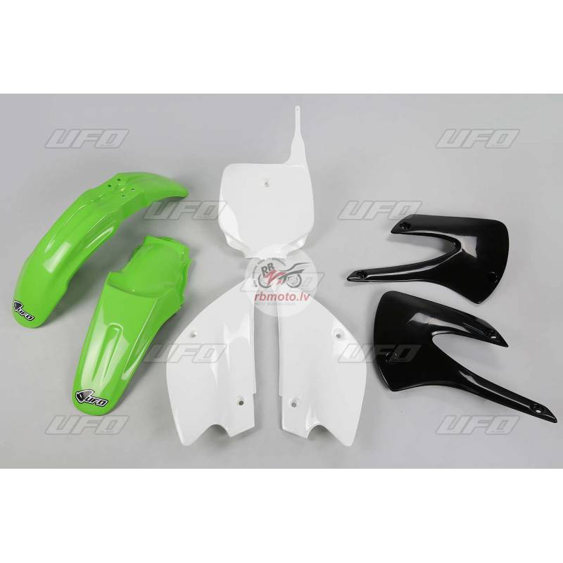 UFO Restyled Plastic Kit OEM Color (2010) Green/Wh...