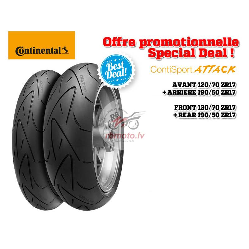 2 Hypersport Tire Pack CONTINENTAL ContiSportAttac...