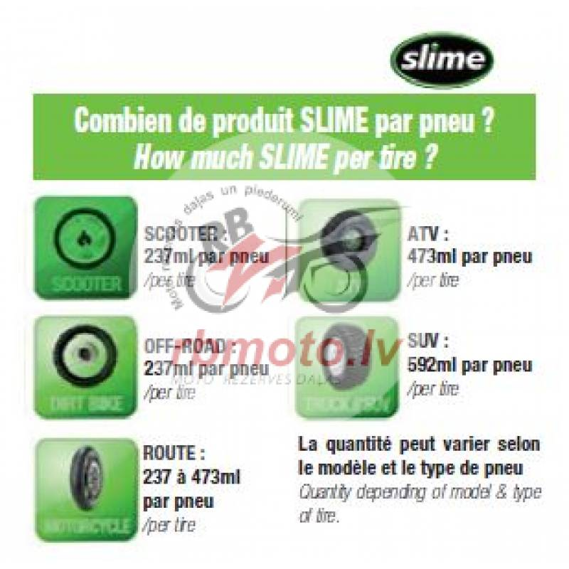 SLIME Kit for Inner Tube 237ml