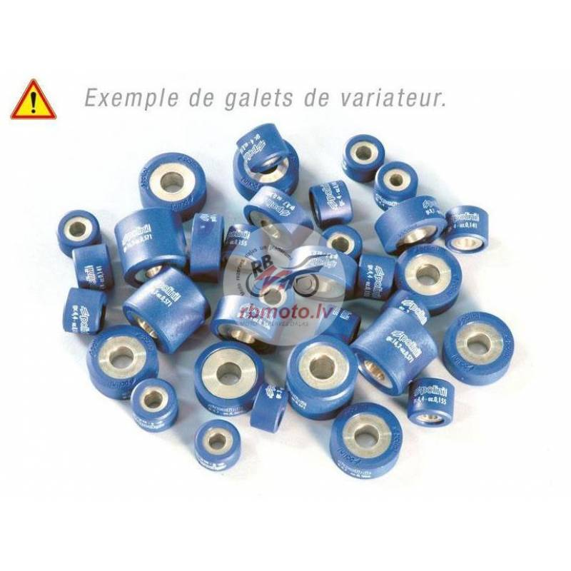Set of 8 Rollers POLINI 25x17mm 12 g