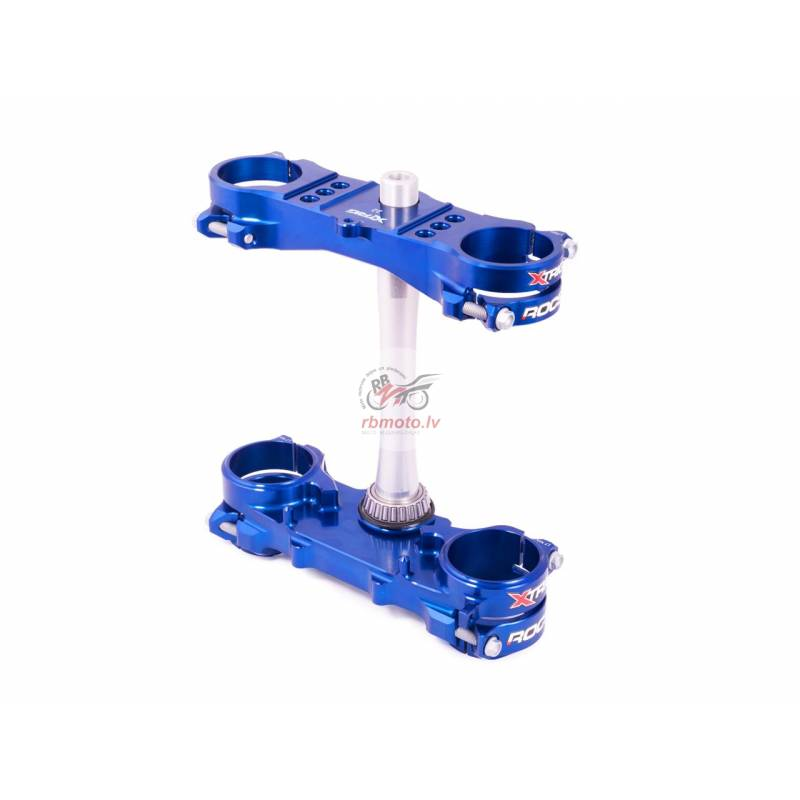 XTRIG Rocs Tech Triple Clamp Blue 25mm offset Yama...