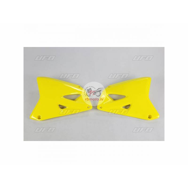 UFO Radiator Covers Yellow Suzuki RM125/250
