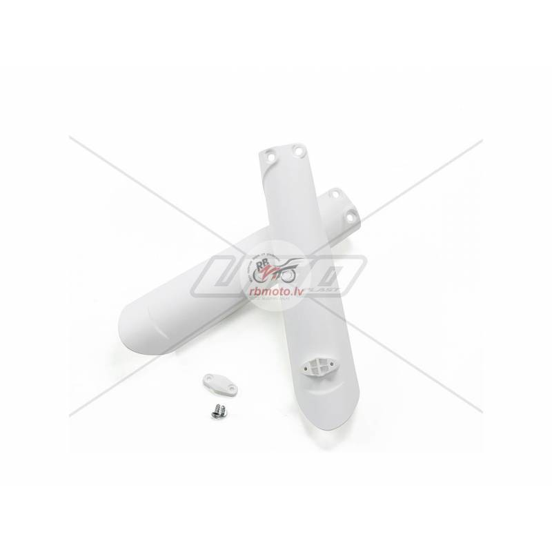UFO Fork Guards White KTM