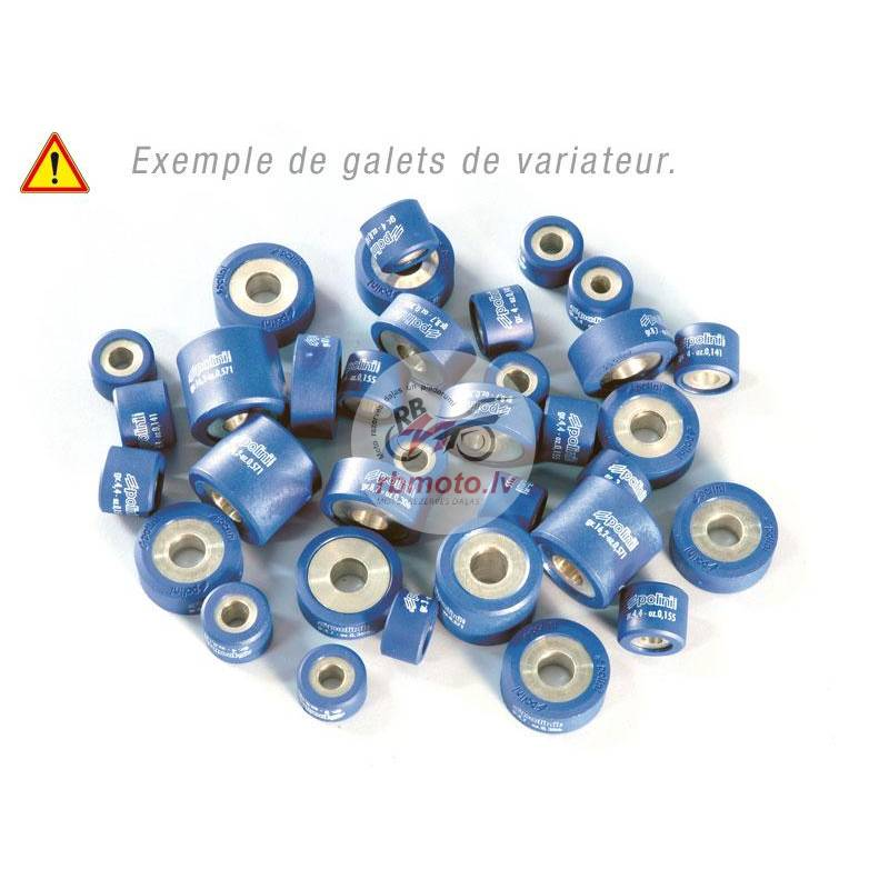 Set of 6 POLINI Rollers 19 x 17 mm, 7.2 g in Whi...